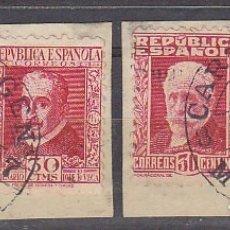 Sellos: FRAGMENTO BISECTADOS. 2V CARTAGENA-MURCIA. 1937. Lote 182593213