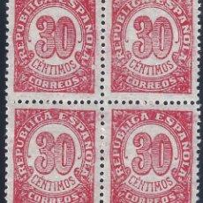 Sellos: EDIFIL 750 CIFRAS 1938 (BLOQUE DE 4). MNH **. Lote 182602727