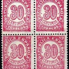 Sellos: EDIFIL 750** 30C ROJO BLOQUE DE 4. Lote 182794835