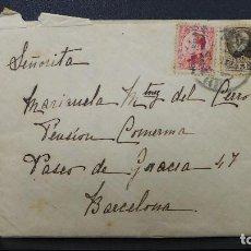 Sellos: CARTA DE BARCELONA CON 2 SELLOS DE 5 Y 25 CTS AÑO 1933. Lote 183504617
