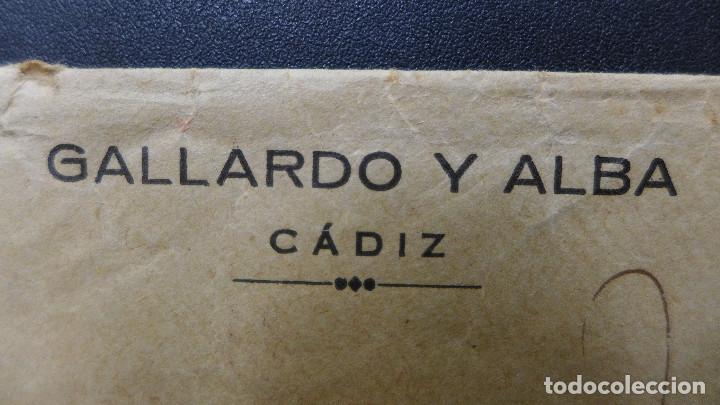 Sellos: CARTA DE CADIZ CON MEMBRETE GALLARDO Y ALBA AL DORSO PUBLICIDAD DE LAS PLAYAS DE CADIZ - Foto 2 - 183524898