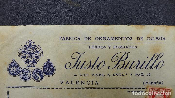 Sellos: CARTA DE VALENCIA A CADIZ CON SELLO DE 30 CTS AÑO 1933 CON MEMBRETE Y CARTA DE JUSTO BURILLO - Foto 2 - 183527417