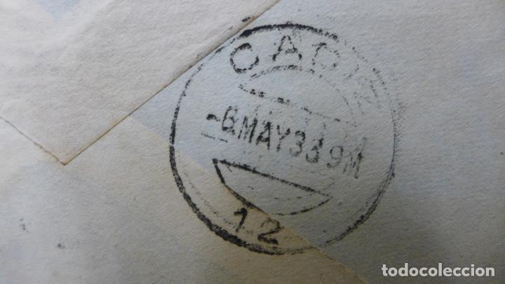 Sellos: CARTA DE VALENCIA A CADIZ CON SELLO DE 30 CTS AÑO 1933 CON MEMBRETE Y CARTA DE JUSTO BURILLO - Foto 5 - 183527417