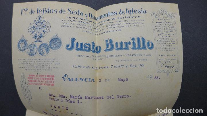 Sellos: CARTA DE VALENCIA A CADIZ CON SELLO DE 30 CTS AÑO 1933 CON MEMBRETE Y CARTA DE JUSTO BURILLO - Foto 7 - 183527417