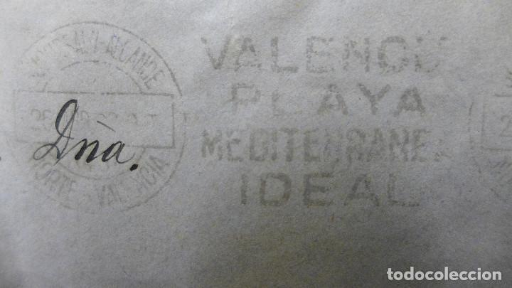 Sellos: SOBRE VALENCIA A CADIZ AÑO 1933 MEMBRETE RAFAEL CATALA MATASELLOS VALENCIA PLAYA MEDITERRANEA IDEAL - Foto 2 - 183585011