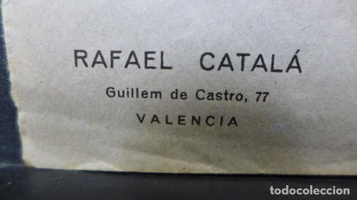 Sellos: SOBRE VALENCIA A CADIZ AÑO 1933 MEMBRETE RAFAEL CATALA MATASELLOS VALENCIA PLAYA MEDITERRANEA IDEAL - Foto 3 - 183585011