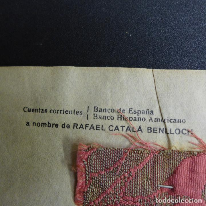 Sellos: SOBRE VALENCIA A CADIZ AÑO 1933 MEMBRETE RAFAEL CATALA MATASELLOS VALENCIA PLAYA MEDITERRANEA IDEAL - Foto 8 - 183585011