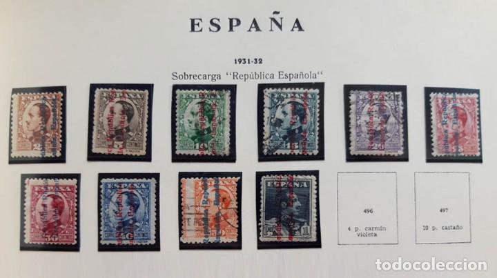 EDIFIL 593-602 ALFONSO XIII 1931 NUEVOS Y USADOS (Sellos - España - II República de 1.931 a 1.939 - Usados)