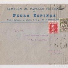 Sellos: SOBRE. BARCELONA A NAVIA, ASTURIAS. 1935. SELLO 30 CTS. LOPE DE VEGA. Lote 183863848