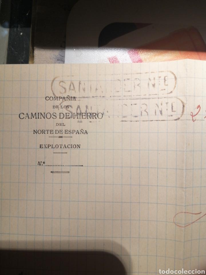 Sellos: Caminos de Hierro del Norte años 30 pozalvez Valladolid marcas cartucho Santander - Foto 2 - 184136261