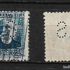 Sellos: ESPAÑA 1933 EDIFIL 688 PERFORADO - 9/16. Lote 184296636