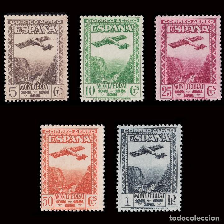 II REPÚBLICA.1931. IX CENT.MONTSERRAT.SERIE.MNH.EDIFIL.650-654 (Sellos - España - II República de 1.931 a 1.939 - Nuevos)