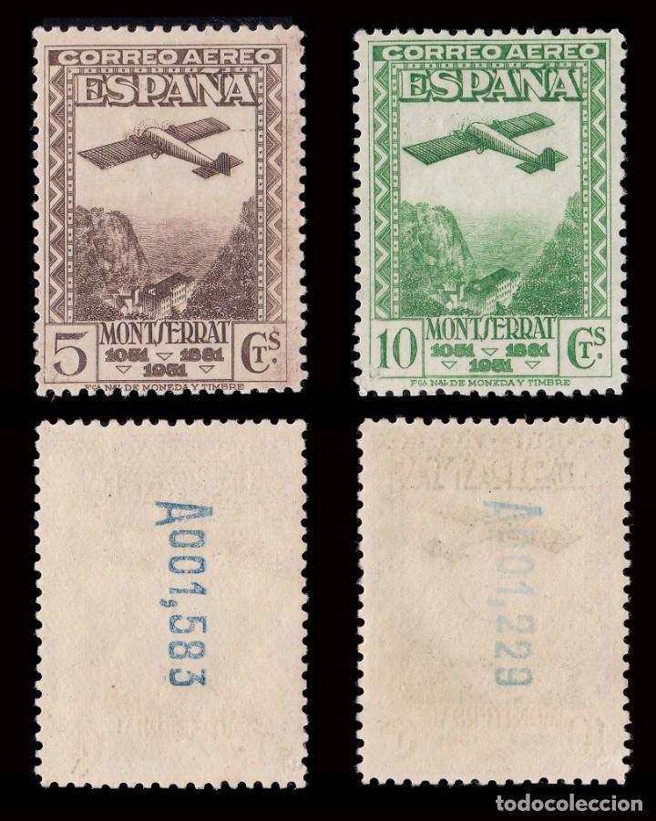 Sellos: II República.1931. IX Cent.Montserrat.Serie.MNH.Edifil.650-654 - Foto 2 - 184722065