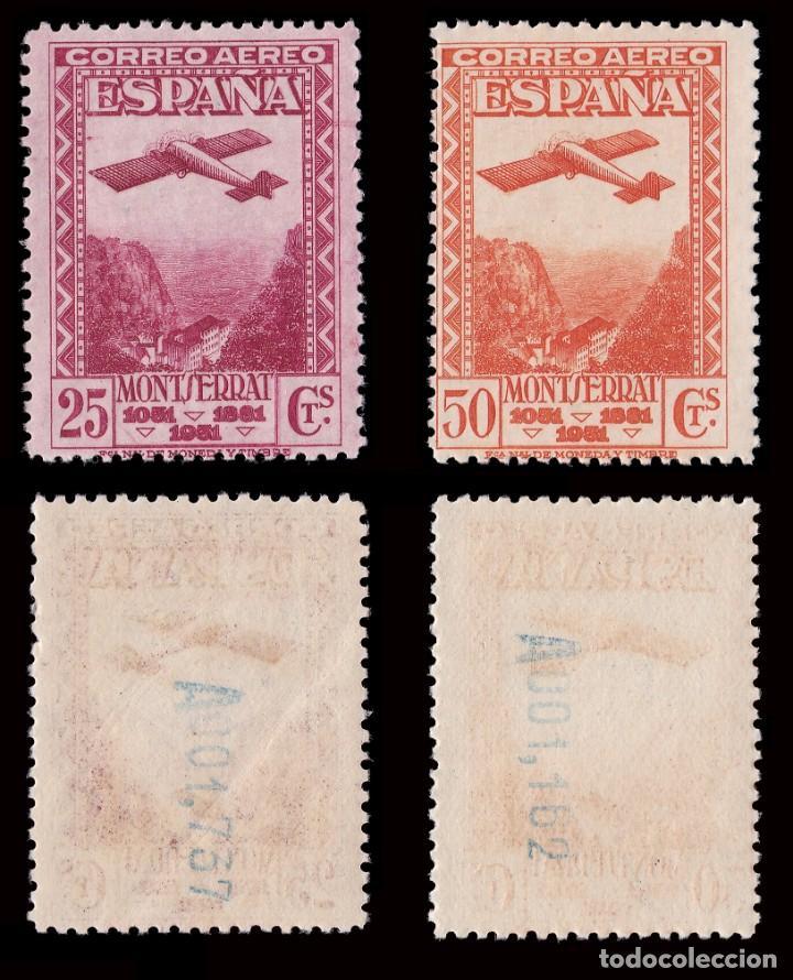 Sellos: II República.1931. IX Cent.Montserrat.Serie.MNH.Edifil.650-654 - Foto 3 - 184722065