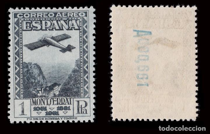 Sellos: II República.1931. IX Cent.Montserrat.Serie.MNH.Edifil.650-654 - Foto 4 - 184722065