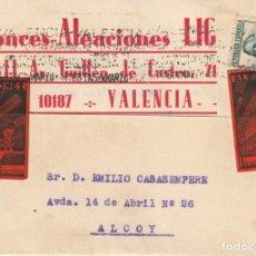 Sellos: PRECIOSA TARJETA POSTAL PRIVADA DECORADA CON DOS PEGATINAS DE LA EMPRESA EMISORA DE LA MISMA (1935). Lote 184742316