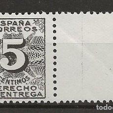 Sellos: R35.G11/ ESPAÑA 1931, EDIFIL 592 MNH**, DERECHO DE ENTREGA, CATALOGO 2020 = 18,00 €. Lote 184932652