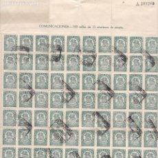 Sellos: GPC-5- REPÚBLICA CIFRAS 15 CTS . HOJA COMPLETA 100 SELLOS . USADO VILLARROBLEDO ALBACETE. Lote 185659262