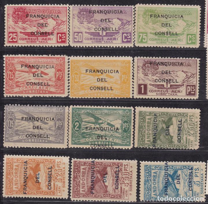 JJ11- DEPENDENCIAS POSTALES ANDORRA FRANQUICIAS DEL CONSELL EDIFIL NE 25/36 ** SIN FIJASELLOS (Sellos - España - II República de 1.931 a 1.939 - Nuevos)