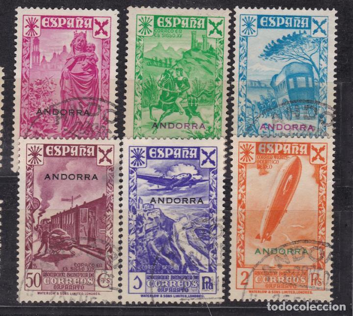 JJ12- DEPENDENCIAS POSTALES ANDORRA BENEFICENCIA EDIFIL 1/6 (Sellos - España - II República de 1.931 a 1.939 - Usados)