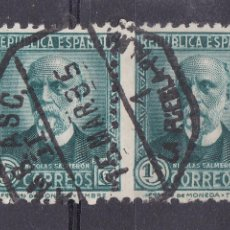 Sellos: TT12- REPÚBLICA SALMERÓN PAREJA MATASELLOS AMBULANTE 1 LA PUEBLA -PALMA. DENTADO DESPLAZADO. Lote 186099661