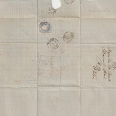 Sellos: PRECIOSA CARTA, SELLO Y MATASELLOS DE 1871 FRANQUEADA DESDE ÁGUILAS (MURCIA) A BARCELONA. . Lote 186110322