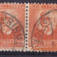 Sellos: TT15-SALMERÓN CON CIFRA . PAREJA . EDIFIL 661 USADOS ORIHUELA ALICANTE. Lote 186116586