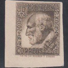 Sellos: ESPAÑA,1935 EDIFIL Nº 680S (*), SANTIAGO RAMÓN Y CAJAL, SIN DENTAR. . Lote 186273023