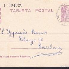 Sellos: F6-54- ENTERO POSTAL TERMENS LÉRIDA 1936. Lote 186465122