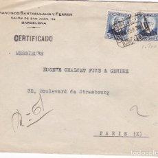 Sellos: F6-65- CERTIFICADO BARCELONA -PARIS 1936. Lote 186498885