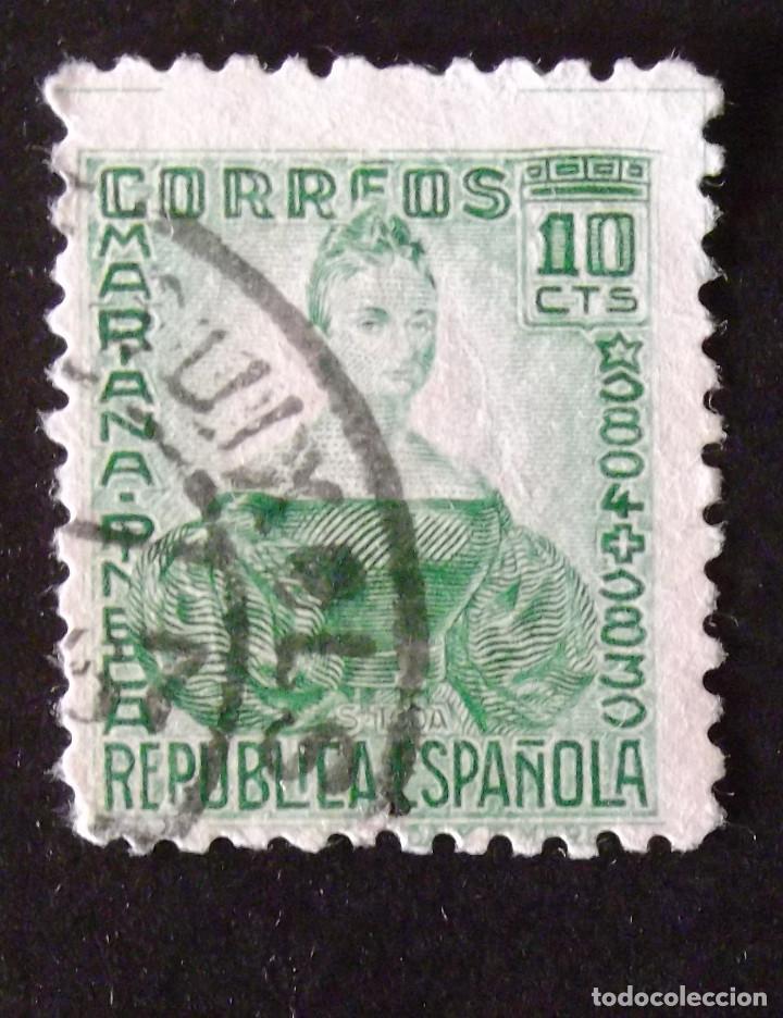 682, USADO. PINEDA. (Sellos - España - II República de 1.931 a 1.939 - Usados)