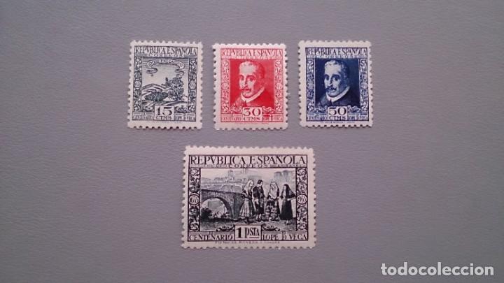 ESPAÑA-1935- II REPUBLICA - EDIFIL 690/693 - SERIE COMPLETA - MH* - NUEVOS - CENTRADOS - VALOR 160€ (Sellos - España - II República de 1.931 a 1.939 - Nuevos)