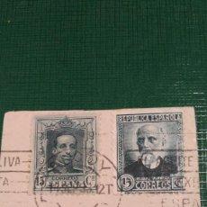 Sellos: ESPAÑA SELLOS 315 Y 657. FRAGMENTO DE CARTA. MONARQUÍA Y REPÚBLICA.. Lote 190569260
