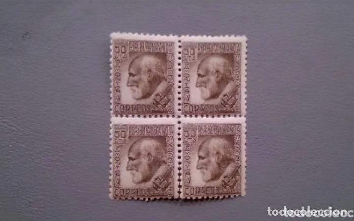 ESPAÑA - 1934 - II REPUBLICA - EDIFIL 680 - BLOQUE DE 4 - MNH** - NUEVOS -SANTIAGO RAMON Y CAJAL (Sellos - España - II República de 1.931 a 1.939 - Nuevos)