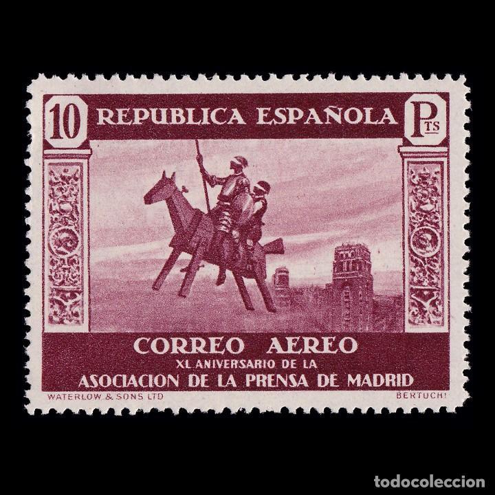 II REPÚBLICA.1938. XI ANIV. ASC.PRENSA.10P MNH.EDIFIL.725 (Sellos - España - II República de 1.931 a 1.939 - Nuevos)