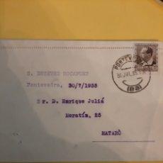 Sellos: 1935 MATASELLO PONTEVEDRA S ESTEVEZ ROCAFORT MATARO. Lote 190853416