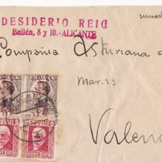 Sellos: F7-15- FRONTAL PAQUETE MUESTRAS ALICANTE 1932. Lote 190886926