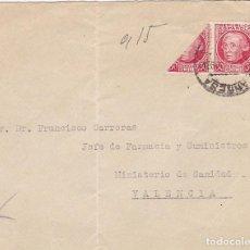 Sellos: F7-16- FRONTAL MANZANARES (CIUDAD REAL) 1937. JOVELLANOS BISECTADO. Lote 190887011