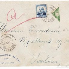 Sellos: F7-16- FRONTAL LILLO (TOLED) 1937. MARIANA PINEDA BISECTADO. Lote 190887027