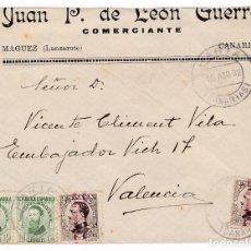 Sellos: F7-16- FRONTAL MAGUEZ CANARIAS 1932. MATASELLOS FECHADOR HARIA . Lote 190887043