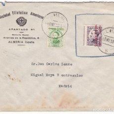 Sellos: F7-17- CARTA SOCIEDAD FILATÉLICA ALMERIENSE ALMERIA 1933. Lote 190887062