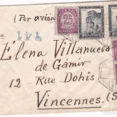 Sellos: F7-18- CARTA VALENCIA-FRANCIA 1938- FAJA CENSURA . Lote 190887105