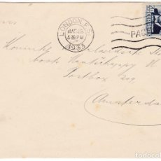 Selos: F4-92- FRONTAL CASTELAR REPÚBLICA. MATASELLOS PAQUEBOT LONDON 1933. Lote 190894072