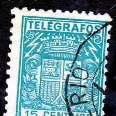 Sellos: ESPAÑA.- TELEGRAFOS Nº 70 DE15 CENTIMOS MATASELLADO. . Lote 191191258