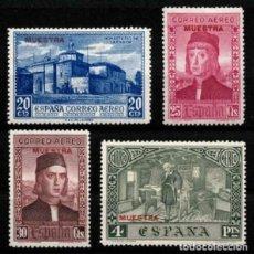 Sellos: ESPAÑA 1930. DESCUBR. DE AMÉRICA. NUEVOS*. EDIFIL 551MA/557MA.MUESTRA SERIE EN ROJO. Lote 191311753