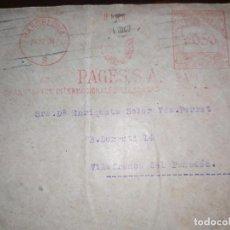 Sellos: SOBRE PAGÉS S.A TRANSPORTES ADUANAS A VILAFRANCA DEL PENE(SELLO REPÚBLICA ESPAÑOLA)1938 COLECCIÓN ). Lote 191415695