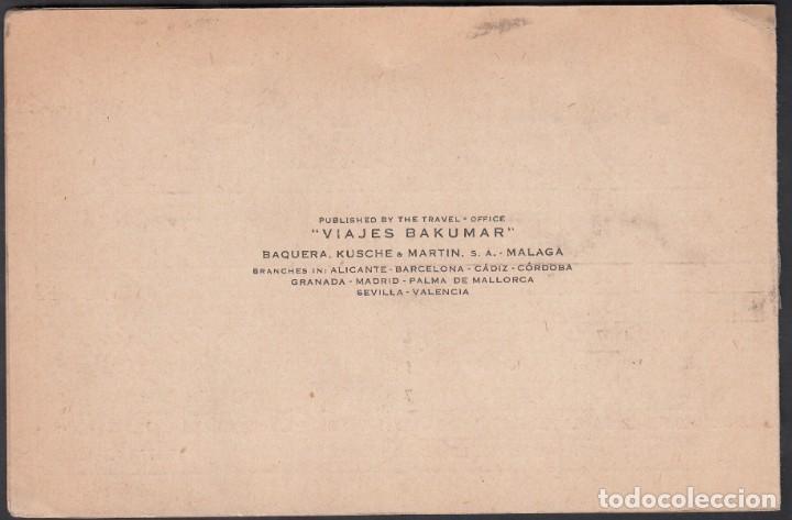 Sellos: Tarjeta Comercial Doble, Bakumar, Malaga- U.S.A. Impresos. - Foto 3 - 191659783