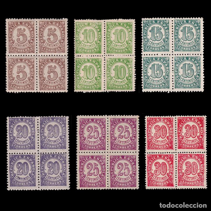 II REPÚBLICA.1938.CIFRAS.SERIE BLQ 4.MHN EDIFIL.745-750 (Sellos - España - II República de 1.931 a 1.939 - Nuevos)
