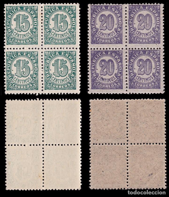 Sellos: II República.1938.Cifras.Serie Blq 4.MHN Edifil.745-750 - Foto 3 - 191763342
