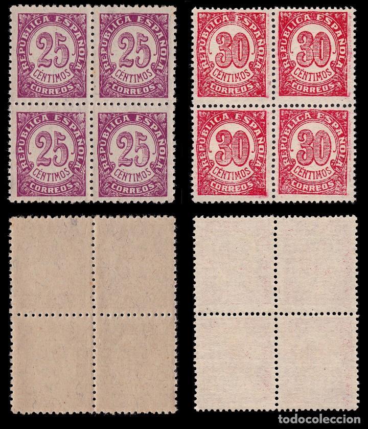 Sellos: II República.1938.Cifras.Serie Blq 4.MHN Edifil.745-750 - Foto 4 - 191763342